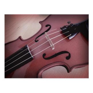 バイオリンの音楽的なひもの楽器の写真の郵便はがき ポストカード