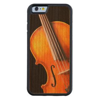 バイオリンまたはビオラの電話箱 CarvedチェリーiPhone 6バンパーケース