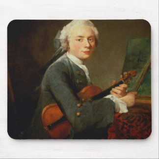 バイオリンを持つ若者 マウスパッド