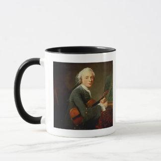 バイオリンを持つ若者 マグカップ