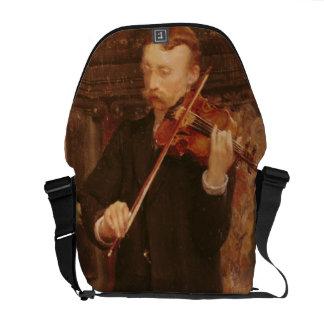 バイオリンを演奏しているアルマTadema |モーリスの息子 メッセンジャーバッグ