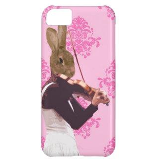 バイオリンを演奏するおもしろいのウサギ iPhone5Cケース