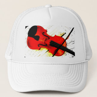 バイオリンプレーヤーかバンド帽子 キャップ