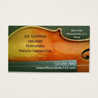 バイオリン奏者の名刺 名刺