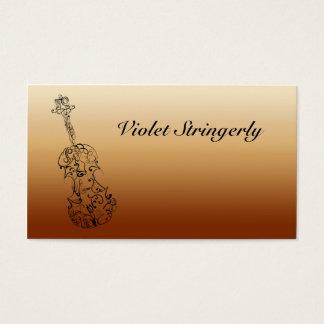 バイオリン奏者の連絡先情報 名刺