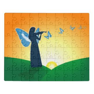 バイオリン奏者及び蝶 ジグソーパズル