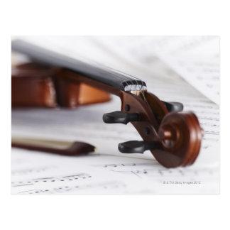 バイオリン弓 ポストカード