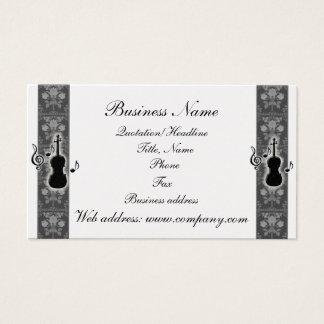 バイオリン音楽は名刺に注意します 名刺