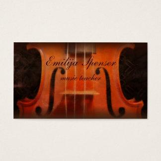 バイオリン音楽個人教師の上品な名刺 名刺
