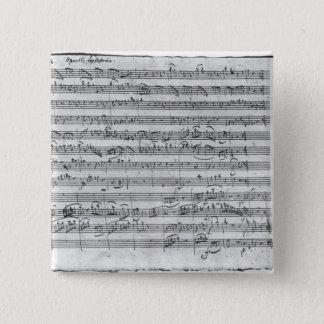 バイオリン、ハープシコードおよびvioloncello 3のためのGの専攻学生 5.1cm 正方形バッジ