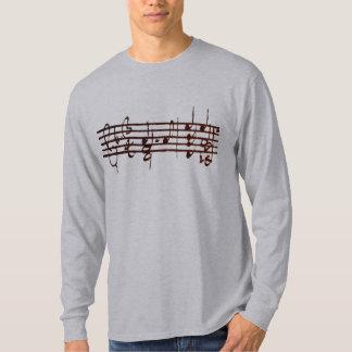 バイオリン-最初2つの手段のためのBachのChaconne Tシャツ