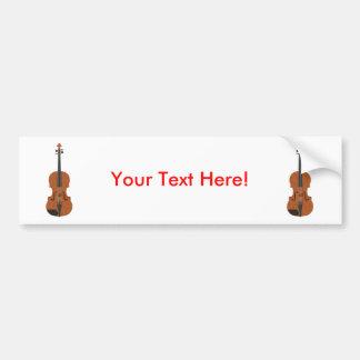 バイオリン: 3Dモデル: バンパーステッカー