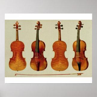 バイオリン(LtoR): Antonio Stradivariu著「Alard」 ポスター