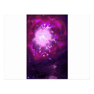 バイオレットおよびバーガンディの星雲 ポストカード