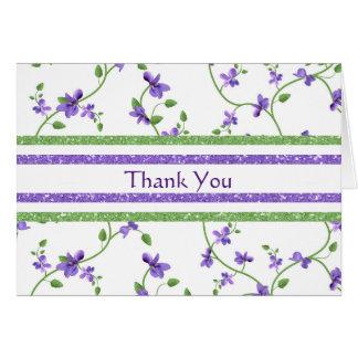 バイオレットとの花のサンキューカード カード