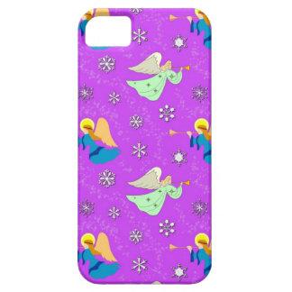 バイオレットの天使-雪片及びトランペット iPhone SE/5/5s ケース