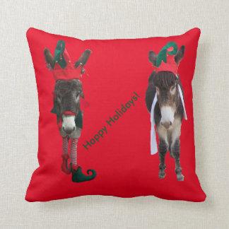 バイオレット及びレオナルドのクリスマスの枕 クッション