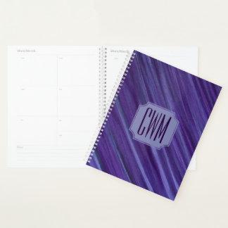 バイオレット|の紫色のラベンダーのプラム薄紫ブラシストローク プランナー手帳