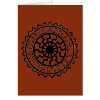 バイキングのケルト人の日曜日のRuneのカレンダー カード