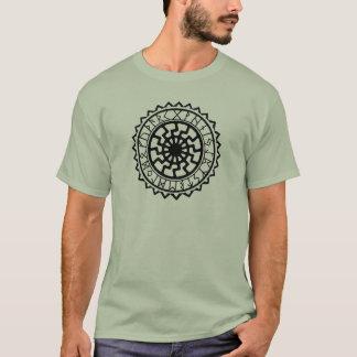 バイキングのケルト人の日曜日のRuneのカレンダー Tシャツ