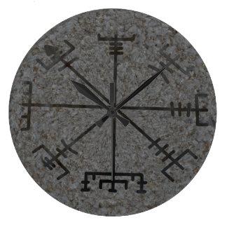 バイキングのコンパスの柱時計 ラージ壁時計