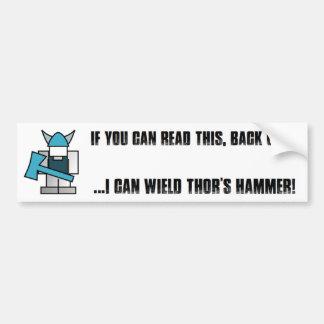 バイキングのハンマーのバンパーステッカー バンパーステッカー