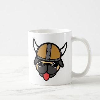 バイキングのパグ コーヒーマグカップ