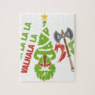 バイキングのヴァルハラのクリスマスの休日 ジグソーパズル