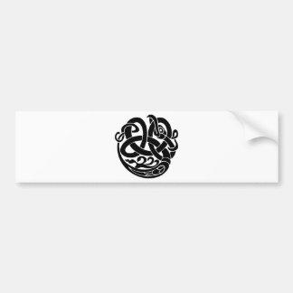 バイキングの世界の蛇の世界の食べる人Jormungandr バンパーステッカー