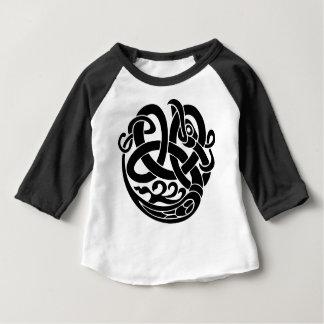 バイキングの世界の蛇の世界の食べる人Jormungandr ベビーTシャツ
