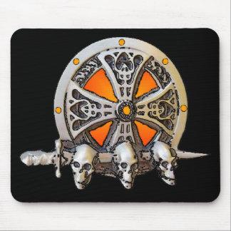 バイキングの剣及び盾のマウスパッド マウスパッド