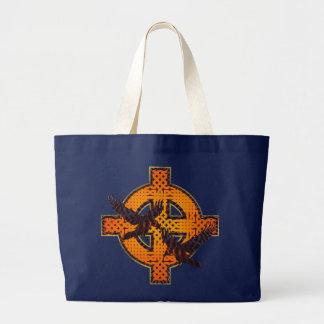 バイキングの十字のバッグ ラージトートバッグ
