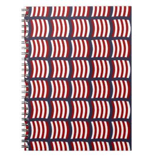 バイキングの帆パターンノート ノートブック