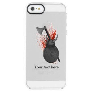 バイキングの斧の盾およびヘルムートの絵 クリア iPhone SE/5/5sケース