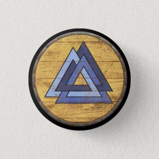 バイキングの盾の紋章- Valknut 3.2cm 丸型バッジ