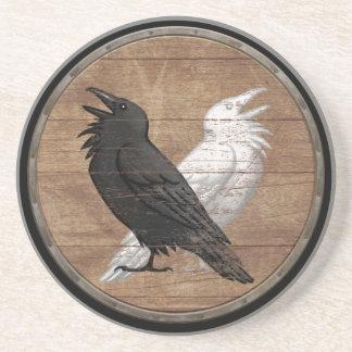 バイキングの盾- Odinのワタリガラス コースター