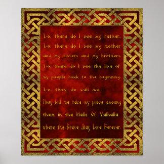 バイキングの祈りの言葉ポスター ポスター