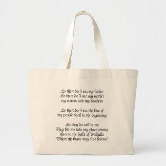 バイキングの祈りの言葉 ラージトートバッグ
