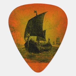 バイキングの船のギターピック ギターピック