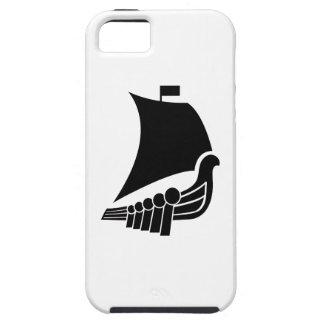 バイキングの船のピクトグラムのiPhone 5の場合 iPhone SE/5/5s ケース