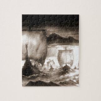 バイキングの船 ジグソーパズル