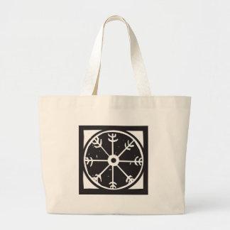 バイキングの車輪の記号 ラージトートバッグ