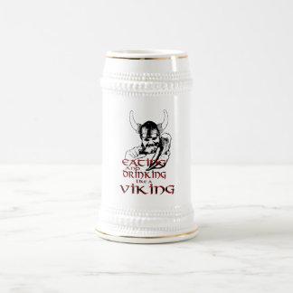 バイキングの饗宴ステイン ビールジョッキ