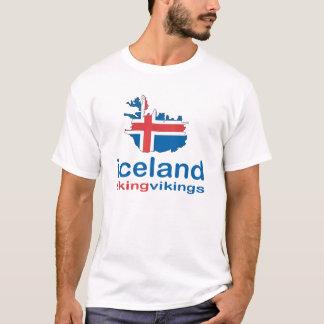 バイキングを好むアイスランド Tシャツ