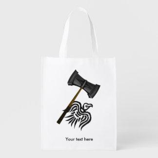 バイキング戦争のハンマーのトール エコバッグ