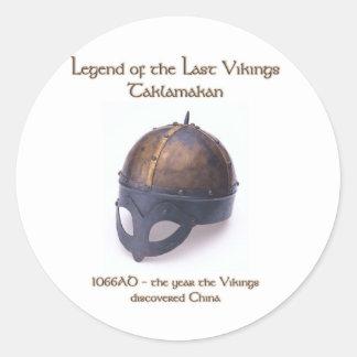 バイキング|ヘルメット|1066年 丸形シールステッカー