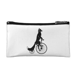 バイクに乗っているキツネ コスメティックバッグ