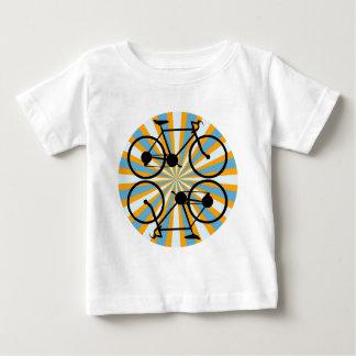 バイクのサイクリングの自転車 ベビーTシャツ