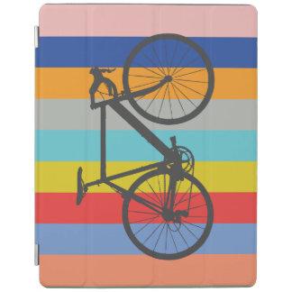 バイクのストライプのな多色刷りの虹 iPadスマートカバー