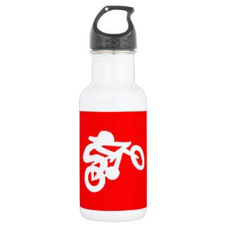 バイクのライダーの赤 ウォーターボトル